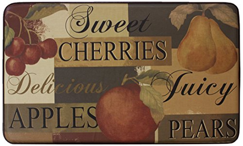Chef Gear Scrumptious Fruit Faux Leather Anti-Fatigue Cushioned Chef Mat, 18 by 30-Inch
