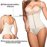 165c8704ce SHAPERX Camellias Womens Faja Seamless Firm Control Shapewear Zipper  Closure Open Bust Bodysuit Body Shaper Slimmer ...