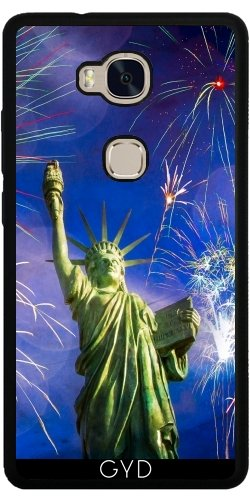 Funda de silicona para Huawei Honor 5X - Fuegos Artificiales Libertad De La Señora by J McCool