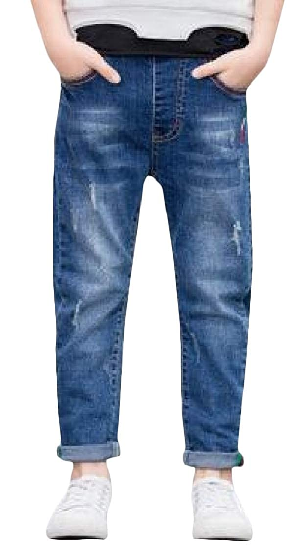 Pandapang Boys Jeans Casual Hole Denim Stretchy Trousers Pant
