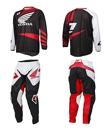 One Industries Honda Atom Pants & Jersey Combo Kit - Extra Large Jersey & 36 Pants _51173-098-054 50173-098-036