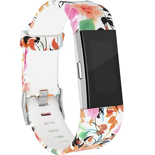 RedTaro Bands Compatible with Fitbit Charge 2, Replacement Accessory Wristbands Floral ()