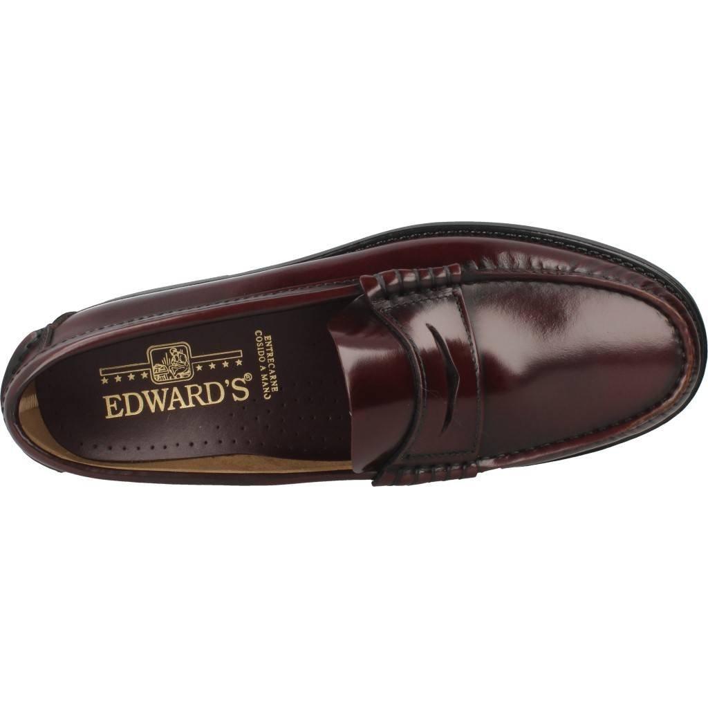 Mocassini Uomo, Colore Borgogna, Marca EDWARD'S, EDWARD'S, EDWARD'S, Modelo Mocassini Uomo EDWARD'S 1001 Borgogna b6145a