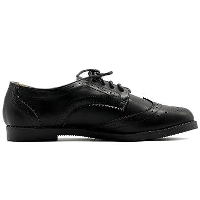 04435c81fb84 Ollio Women s Flats Shoes Wingtip Lace Up Oxfords  Amazon.ca  Shoes    Handbags