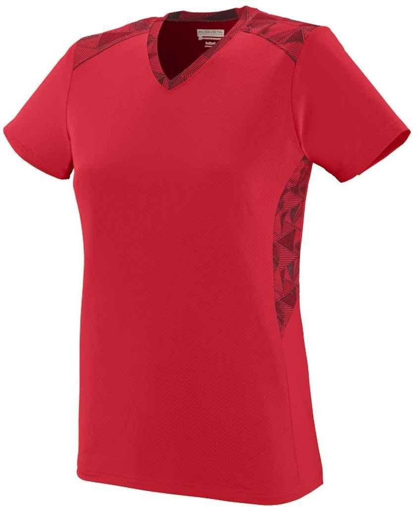 Augusta SportswearレディースVigorousジャージー B00P53ZMC8 Small|Red/Red/Black Print Red/Red/Black Print Small