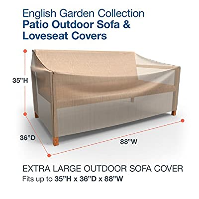 Budge English Garden Outdoor Patio Sofa Cover