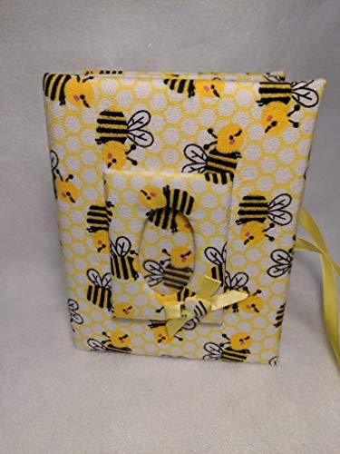 Custom Photo Album Bumble Bees Holds 100 4x6 Photos - Handmade Fabric Photo Album