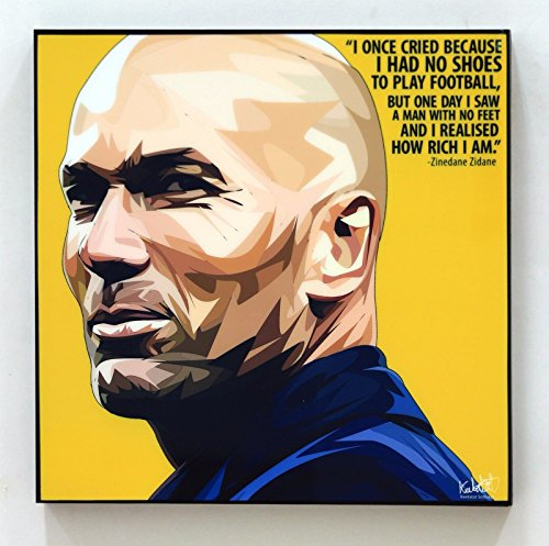 Zinedine Zidane Real Madrid Football Soccer Poster POP ART canvas Quotes wall decals framed