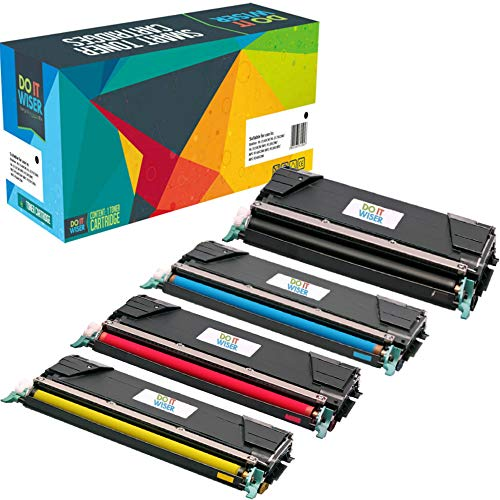 Do it Wiser Compatible Toner Cartridge Replacement for Lexmark C746H1KG X746de C746 C748 X748de C748de C746dn XS748de X748 X746 C746n 748de (4 Pack)