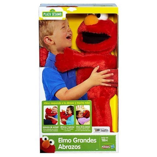 Playskool Elmo Abrazos Grandes De Plaza Sesamo (Big Hugs Elmo Spanish Version) (Bear Playskool)