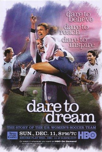 Mia Hamm Poster - Dare to Dream Poster Movie 27x40 Liev Schreiber Mia Hamm Julie Foudy