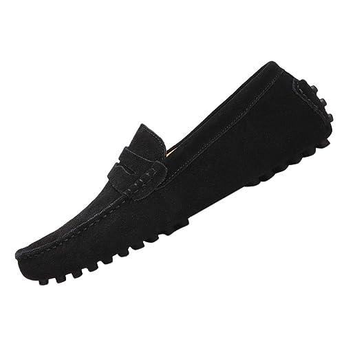 AARDIMI Mokassins Damen Bootsschuhe Loafers Halbschuhe Casual Fahren Schuhe Wildleder Slip on Slipper Erbsenschuhe