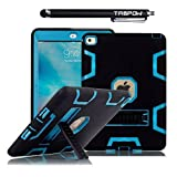 iPad Pro Case (9.7 Inch), TabPow Armor Hybrid Series - [Shockproof][Drop Protection][Heavy Duty] Rugged Three-Layer Defender Case Cover With Stand For iPad Pro 9.7 inch, Blue