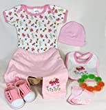 #9: Sunshine Gift Baskets - Bambini Pink Baby Girl with Butterflies - Baby Shower Gift Set