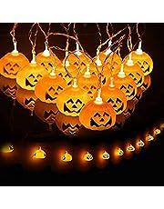 Halloween lichtsnoer, 3 m, 20 leds, voor Halloween, decoratie op batterijen, Halloween lamp voor decoratie, outdoor, binnen (batterij niet inbegrepen)