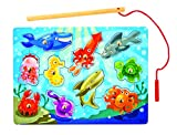 Melissa & Doug Deluxe 10-Piece Magnetic Fishing Game thumbnail