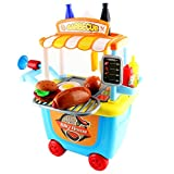 kids barbecue grill - Pretend Play BBQ Playset, Grill Set for Kids, BBQ Plays and Travel Set with Carrying Case for All Boys and Girls, 33pcs/Set