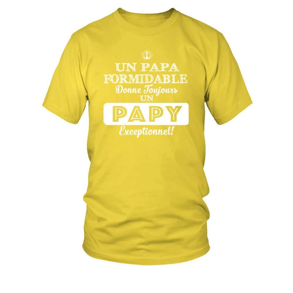 Homme teezily T-Shirt Un Papa Formidable Donne Toujours Un Papy Exceptionnel