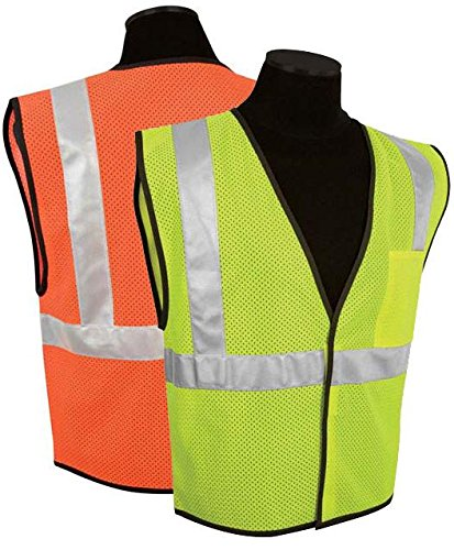 - Economy 1-Pocket Mesh Class 2 Safety Vest, Color: Lime, Size Range: L-XL