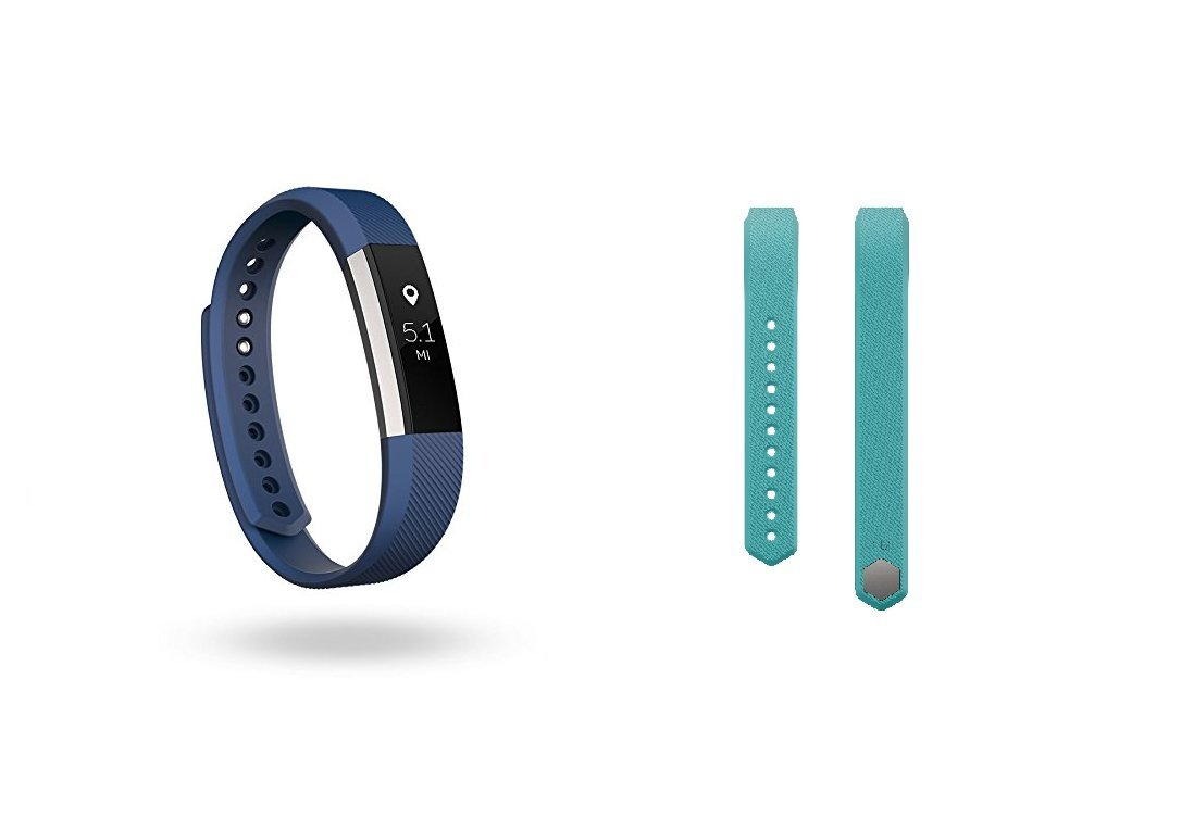 Fitbit Alta (Blue, Large) + Accessory Band (Teal, Large) by Fitbit
