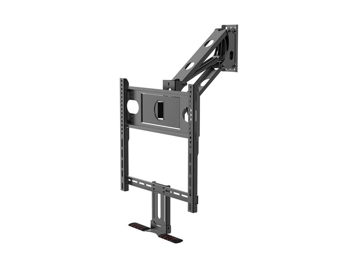 Monoprice Above Fireplace Pull-Down Full-Motion Articulating TV Wall Mount Bracket - for TVs 32in to 50in, Max Weight 60lbs, VESA Patterns Up to 400x400, Rotating, Height Adjustable