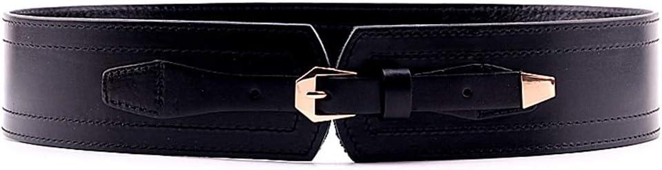 Ofgcfbvxd Correa de Cintura de la Vendimia de Las Mujeres Cinturón de Cuero para Mujer Ancho elástico Pin Hebilla Cinturón Vestido de Chaqueta Abajo Decoración para Vestidos Jeans Lady Girls Regalo