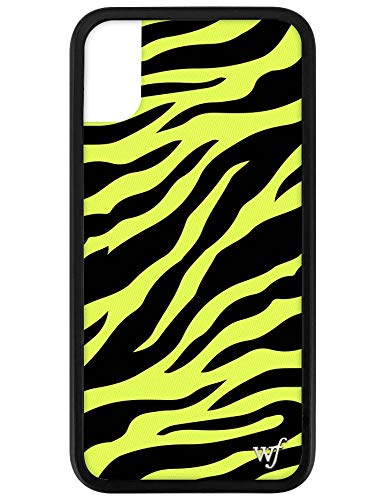 new arrival 2910c 7373a Wildflower Limited Edition iPhone Case for iPhone X and XS (Neon Yellow  Zebra)