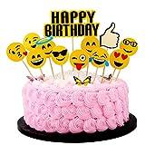 Artang Emoji Pack Theme Happy Birthday Cake Topper Birthday Party Decorations