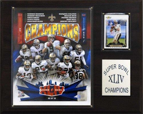 NFL Saints Super Bowl XLIV Champions Plaque