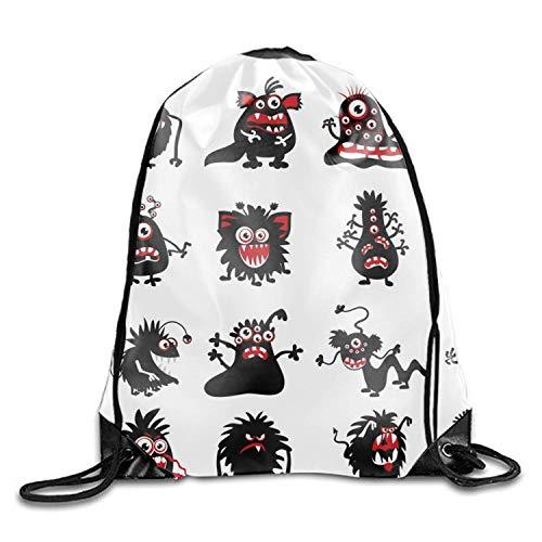 Mastexoru drawstring backpack Unisex Halloween Black Animal Print Drawstring Backpack Rucksack Shoulder Bags Gym Bag Sport -