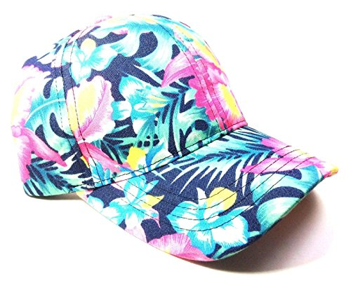 Crown Floral Print Sublimated Dad Hat (Bright - Hat Tropical