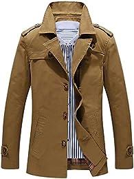 Amazon.com: Brown - Trench &amp Rain / Jackets &amp Coats: Clothing