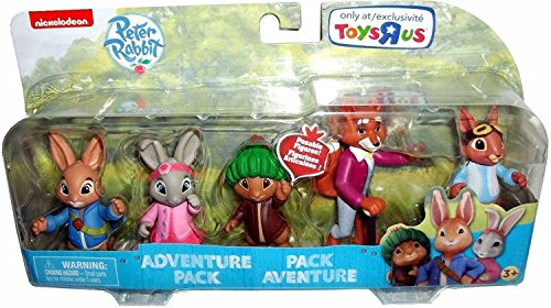 Nickelodeon Peter Rabbit Television Show Poseable Figures, Multi-Figure Adventure Set, 5-Pack, 3 (Poseable Figure Set)