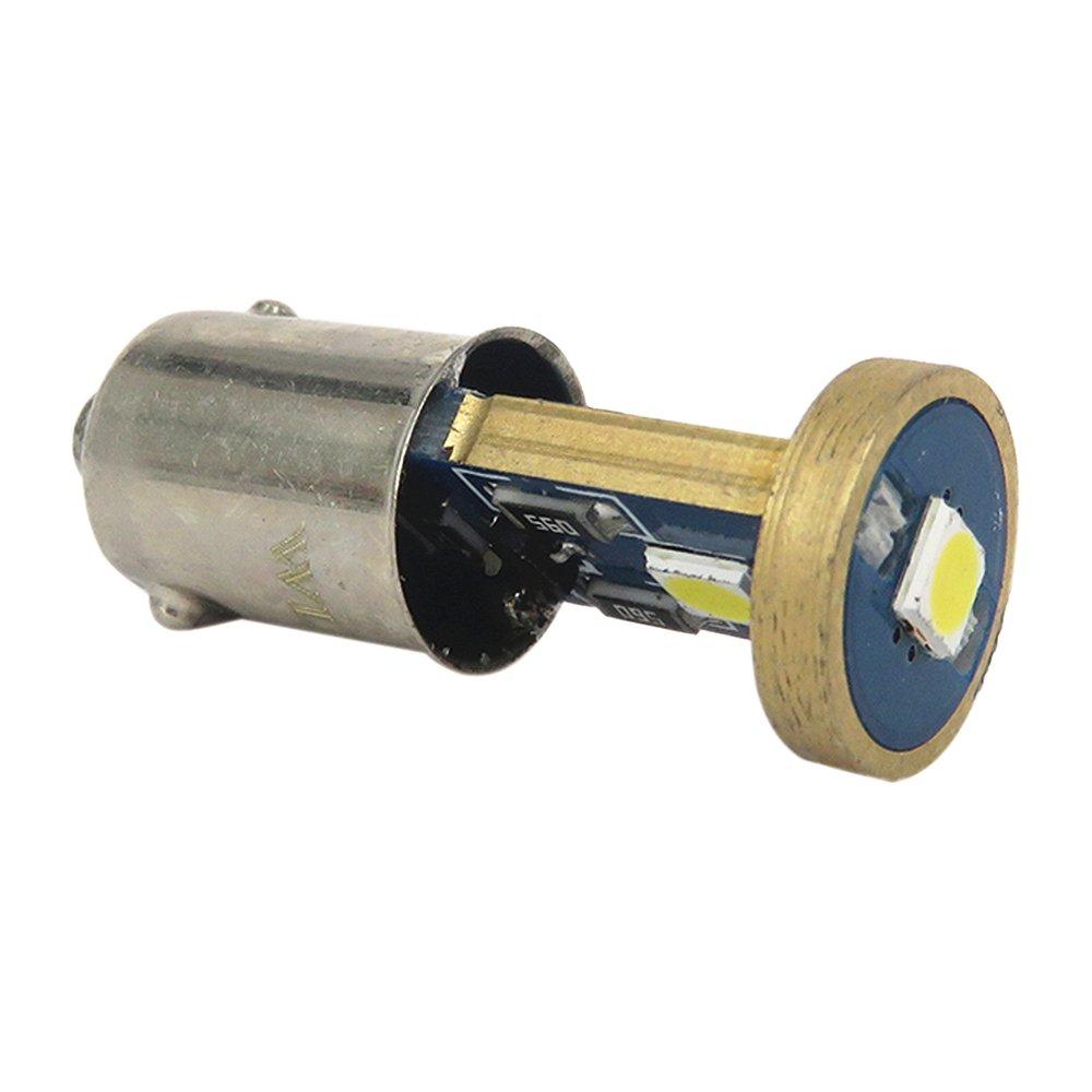 WLJH 2pcs 6000K White BA9S LED Bulb 3030SMD Chips 12V 53 57 1815 1895 64111 Canbus Error Free LED Light Bulb Car Instrument Panel Gauge Cluster Replacement Lamp Indicator Side Door Courtesy Glove Box