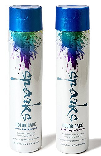 Sparks Color Care Sulfate-Free Shampoo & Protecting Conditioner - Rich in Botanicals, Nourishes, and Prevents Hair Breakage - Treated Hair Bundle ()