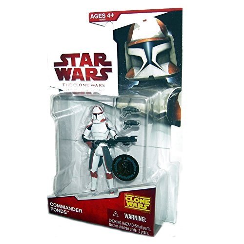 (Star Wars 2009 Clone Wars Animated Exclusive Action Figure Commander Ponds)