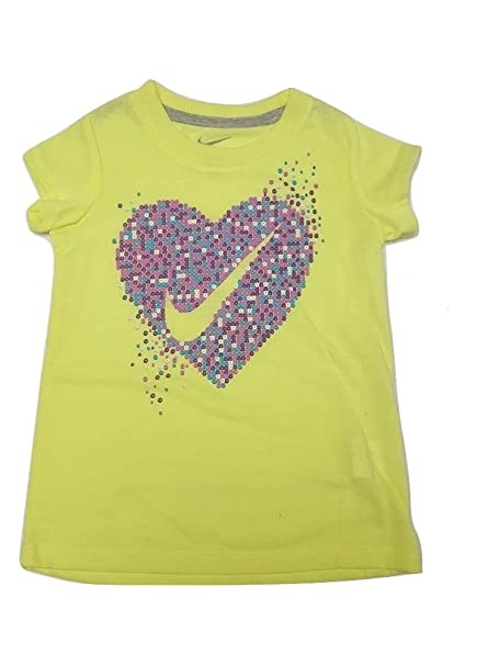 47533aa723 Amazon.com: Nike Kids Girls' Heart Swoosh Beads Short Sleeve Tee ...
