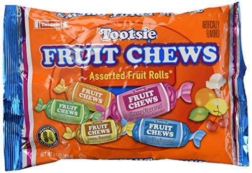 Tootsie Fruit Rolls, Assorted Fruity Flavored, 0.81 lb ()