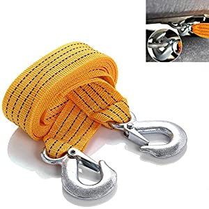 Damar Webbing Solutions Ltd 7T Heavy Duty Tow Rope Towing Pull Strap Winch Tree Strop 4x4 Offroad Recovery 4mtr, Black