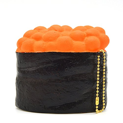 [Caviar Squishy 8CM Sushi Simulation Yummy Food Slow Rising Ballchains Soft Toy] (Costume Caviar)