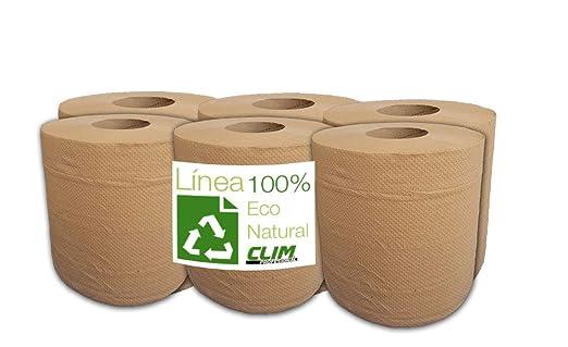 Pack 6 rollos papel secamanos ecológico. Línea eco Natural, 100 ...