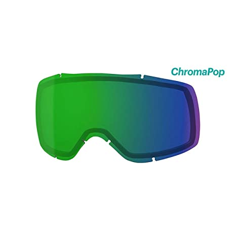 09b30a4357 Smith Optics Showcase Adult Replacement Lense Snow Goggles Accessories -  Chromapop Everyday Green Mirror One