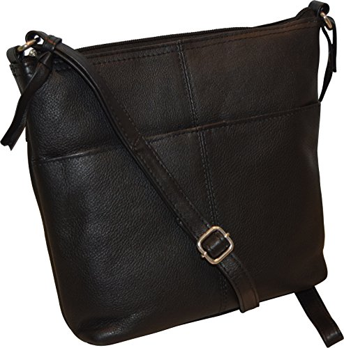 Fashion Crossbody Black Bucket Leather Ii Women's Genuine Bag qwZABqCP1x