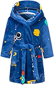 Girls Bathrobes Toddler Kids Hooded Robes Flannel Sleepwear for Kids Girls
