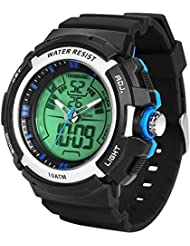 TEKMAGIC 10ATM Waterproof Digital Scuba Diving Watch 100m Underwater for Swimming and Running with Stopwatch and...
