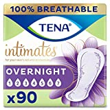 TENA Intimates Overnight Absorbency Incontinence/Bladder Control Pad with Lie Down Protection (Packaging May Vary) 45 Count (Pack of 6)