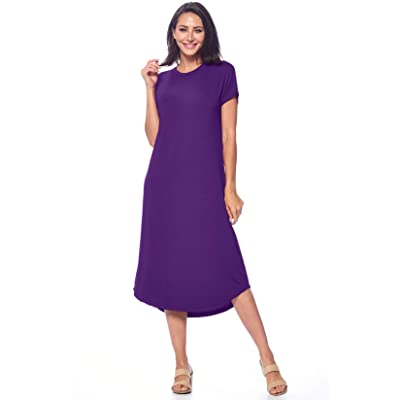 82 Days Womens Short Sleeve Midi Dress Causal Summer Sundress Plus Size Made in USA at Amazon Women's Clothing store