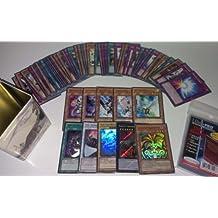 YuGiOh ~60~ Cards Pack w/ XYZ + Rares & Holos + Deck Box & Sleeves