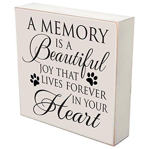 Pérdida de recuerdo conmemorativo de regalo para mascotas si las lágrimas pueden construir una escalera y memorias una caja...