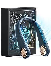TORRAS L3 Series Portable Neck Fan, Hands Free Wearable Bladeless Fan, 4000 mAh Rechargeable Leafless Mini USB Fan for Travel/ Home/ Office, 3 Speeds